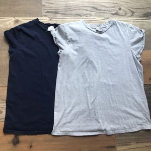 Two ASOS maternity T-shirt's